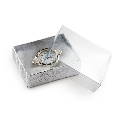 Jewelry Boxes with a Clear Lid Wholesale Cotton Filled Boxes
