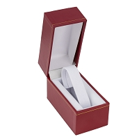 Red Watch Box with White Collar