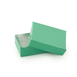 Teal Cotton Filled Jewelry Box #11