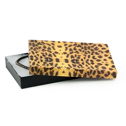 Leopard Paper Cotton Filled Jewelry Box #75