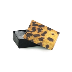 Leopard Paper Cotton Filled Jewelry Box #11
