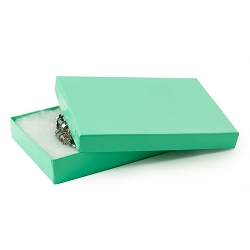Teal Cotton Filled Jewelry Box #53