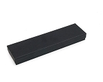 Black Matte Cotton Filled Jewelry Box #82