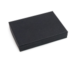 Black Matte Cotton Filled Jewelry Box #53