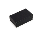 Black Matte Cotton Filled Jewelry Box #21