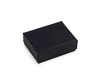 Black Matte Cotton Filled Jewelry Box #11