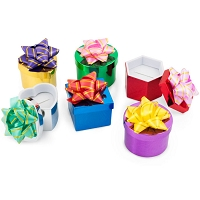 Mini Hat Boxes - Shiny Metallic (Package of 48)