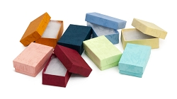 Multi-Color Pastel Cotton Filled  2x1 Jewelry Box (Case of 100)