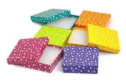 Polka Dot Jewelry Box 3x3 (Case of 100)