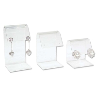 Acrylic Curved Top Earring 3pc. Set