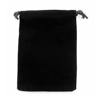 Black Velveteen Anti Tarnish Drawstring Pouch 4x5