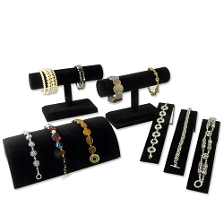 Jewelry Display Assortment For Bracelets Black