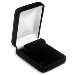 Hoop Earring Box in Black Velvet