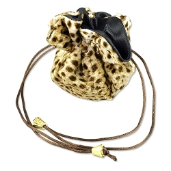 Leopard Cinch Jewelry Pouch