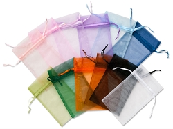 Organza Pouch 2x5 Multi-Color Mix (12-Pcs)