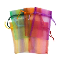 Organza Pouch 2x5 Stripes Mix (12-Pcs)