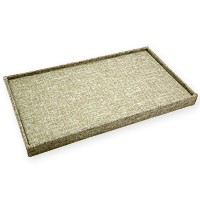Burlap 72 Ring Display Tray