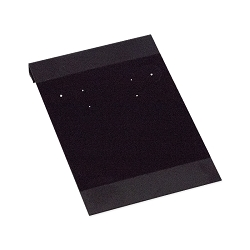 Earring Card 2x3 Black W/Flock (50pcs)