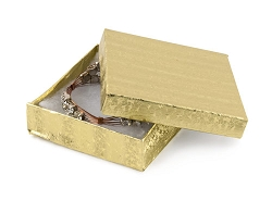 Gold Foil Cotton Filled Jewelry Box #33