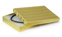 Gold Foil Cotton Filled Jewelry Box #75