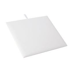 White Leatherette 1/2 Size Jewelry Display Pad