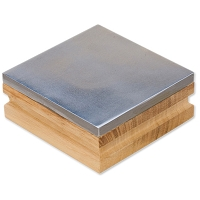 3 Inch Steel Bench Block with Wood Base