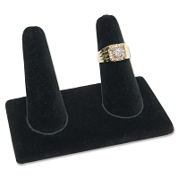 Ring Finger Display Double Black