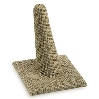Ring Finger Display Square Base Burlap