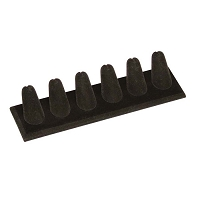 6 Finger Ring Display Black