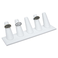 Ring Finger Display Five White