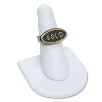 Ring Finger Display U Shape Base White