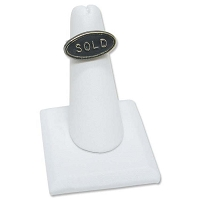 Ring Finger Display Square Base White