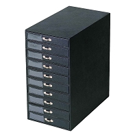 Black 10 Tray Jewelry Storage Tower