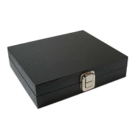 Jewelry Case With Lid1/2 Size Black