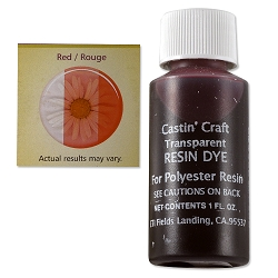 Transparent Red Resin Dye (1-Oz)