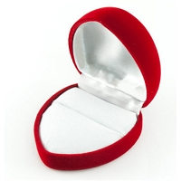 Large Heart Shaped Ring Box