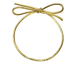 Metallic Stretch Loop Gold 8 inch (50pcs)