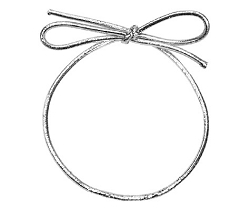Metallic Stretch Loop Silver 8 inch (50pcs)