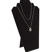 Necklace Board 2 Chains Black Velvet