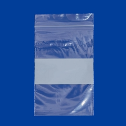 2x3 Plastic Zip Lock Bags  White Block (100pcs)