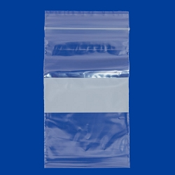 4x6 Plastic Zip Lock Bags White Block  (100pcs)