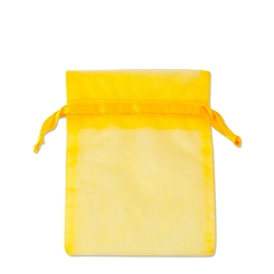 Organza Bags 3x4 Yellow (10-Pcs)