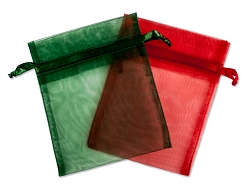 Organza Pouch 2x5 Holiday (10-Pcs)