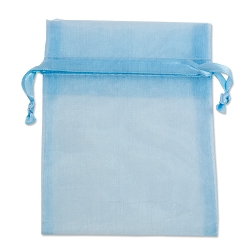Organza Bags 4x5 Light Blue (10-Pcs)