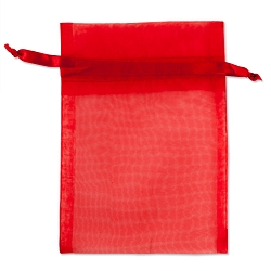 Organza Bags 4x5 Red (10-Pcs)
