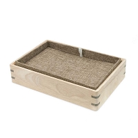 Stackable Burlap Display Pad & Tray