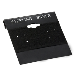 Earring Cards Black