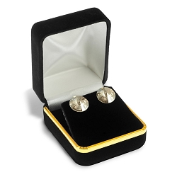 Stud Earring Box Black Velvet