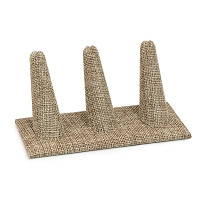 Three Finger Ring Display Burlap
