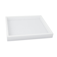 Jewelry Tray Half-Size White Stackable